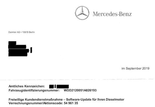 Daimler Abgasskandal: Informiert Daimler Betroffene unrichtig über deren Internetseite?